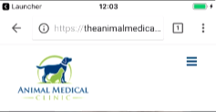 Animal Medical Clinic mobile header