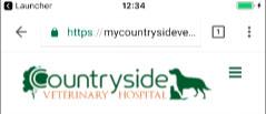 Countryside Veterinary Hospital mobile header